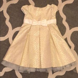 2T toddler girls gold party dress